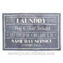 100% coton impression de luxe motif de lettre couleur foncée tapis de bain BM-016