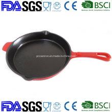 10 Inch Round Enamel Cast Iron Skillet Frypan OEM China Factory
