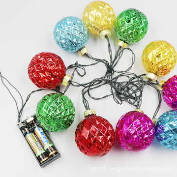 2020 holiday led decoration multicolour glass ball string light led battery globe bulb for party wedding
