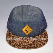 leopard 5 panel hats