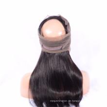 Am besten Geben Sie natürliche Haar-Erweiterungs-menschliche brasilianische 4 Bündel mit 360 Frontalspitze-Perücken frei