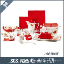 Rot wie Rose ausgezeichnete Qualität Luxus Porzellan Abendessen gesetzt