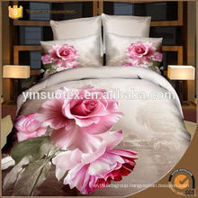 Blooming flowers 3d printed polyester bedding set