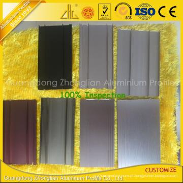 Perfil de alumínio do revestimento do reboque da extrusão do alumínio do ISO 9001