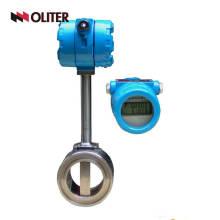 contador de flujo hidráulico del vórtice del caudalímetro de la gasolina del aceite de agua de gas con el LED
