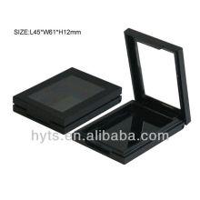 boîte à poudre carrée cosmétique