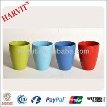 Dolomite Painting Planter/Porcelain Color Glaze Flower Pot Plant Pot/Wholesale Different Types Garden Bulk Flower Pots