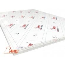 Hoja de ABS de color blanco extruido de marca AHD