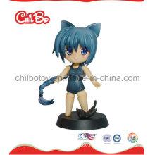 Little Cat Girl Plastic Figur Spielzeug (CB-PM032-S)