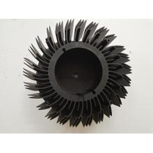 Extrusão de precisão dissipador de calor preto anodização peças de encaixe do ventilador de alumínio