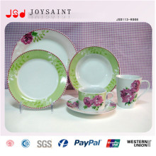 Kundengebundener Entwurf Stocked keramische Essgeschirr-Sätze Porzellan-Abendessen-Satz 16PCS 20 PCS 30PCS