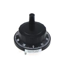 Encodeur manuel de volant noir de conducteur de ligne de la machine 100PPR de commande numérique par ordinateur