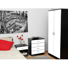 Ottawa 3 Piece High Gloss Bedroom Wardrobe Closet Sets