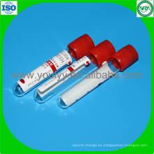Tubo de prueba de sangre activador de coágulos