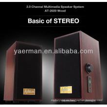 Mini 2.0 altavoz de madera, caja de música de madera
