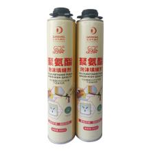 Fabricado en China Alemania DIN4102 Estándar No CFC Espuma adhesiva de poliuretano Spray Sellante de pegamento de poliuretano