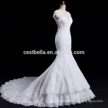 Hochwertige Illusion Schatz Ausschnitt Brautkleid Meerjungfrau