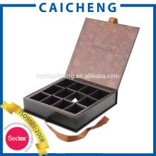 Benutzerdefinierte Schokolade Karton mit Teilern