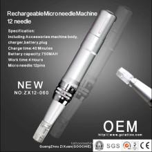 La plus récente machine de thérapie à microcirmille à 12 microns / Derma Roller Pen (ZX12-060)