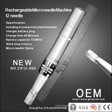 Newest Rechargeable 12microneedle Therapy Machine/Derma Roller Pen (ZX12-060)