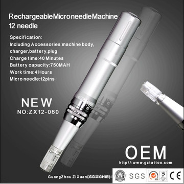 Machine de mésothérapie Microneedle rechargeable de haute qualité (ZX12-60)