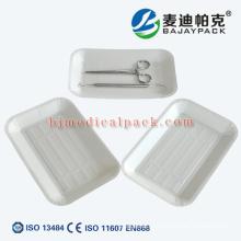 OEM aceptado strilization desechable bandeja de papel médico