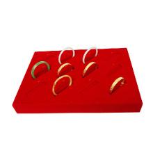 12 Clops Red Velvet Covered Bangle Display Box Tray (TY-12BGL-RV)