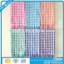 all kinds colors 100% cotton kitchen tea towel