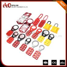 Elecpopular Productos de alto margen de ganancia Rojo amarillo Hasp y Staple Lock Dispositivos de bloqueo de seguridad
