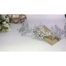 Popular luxo CZ zircon zircônia Shinning Women Pageant Acessórios para o cabelo Faixa de cabelo para bailes Tiaras de casamento