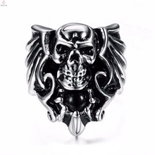 2017 new arrival gothic punk fashion lion skull ring for women