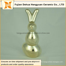 Ceramic Figurine Easter Gift Porcelain Sculpture Gift Home Decor Rabbit Shape