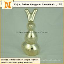 Cerâmica Figurine Presente De Páscoa De Porcelana Escultura Dom Decoração Home Coelho Forma