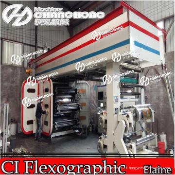 6 Colors Automatical Flexo Printing Machine Central Drum