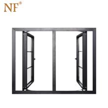 NF Aluminum Casement Windows With Inside Grills