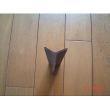Poteau étoile en pierre bitumineuse noire / poteau en acier en forme de Y