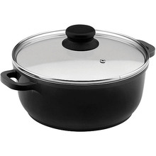 Home Basic Black Nonstick Cerâmica Coated Aluminum Saucepot Induction Bottom
