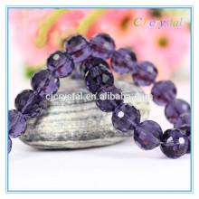 Perlas redondas de cristal de cristal de la boda decore cuentas en China
