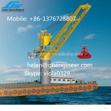 Grue de port et de navire avec seau de prélèvement, 25ton, 26ton, 30ton swl capacity