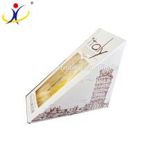 Boîte faite sur commande de boîte de papier jetable de haute qualité avec la boîte de nourriture de fenêtre