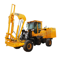 concrete road pile driving rig price air type pile foundation drilling machine