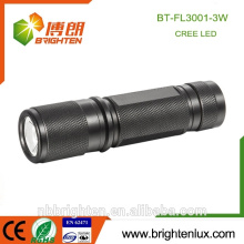 Factory Supply High Power Aluminium Pocket Size Emergency 3W plus lumineux Best Cree Led 3aaa lampe torche de camping