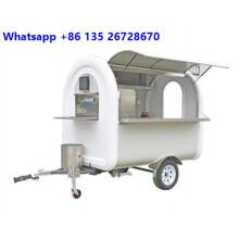 Chariot de nourriture personnalisé pour glace au café avec CE