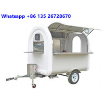 Customized food cart for coffee icecream with CE
