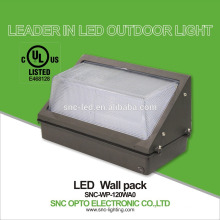 SNC UL CUL Listed high lumen 120w LED Wall Pack Light parking lightk waterproof outdoor Light