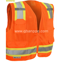 high vis reflective safety vest with pockets