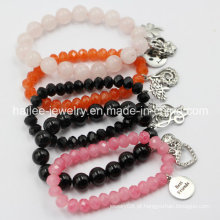 Personalizado Cristal Charme Moda Lucky Beads Pulseira Jóias