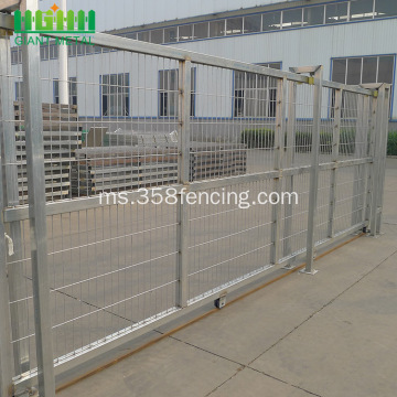 PVC bersalut Galvanized Welded Sliding Gate Gate Gate