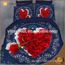 charming flowers red 3D printed bedding set