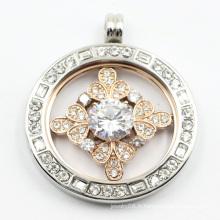 Pendentif médaillon personnalisé en acier inoxydable 316L pour bijoux de collier